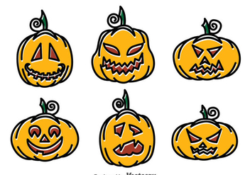 Hand Drawn Pumpkin Vector - бесплатный vector #383975