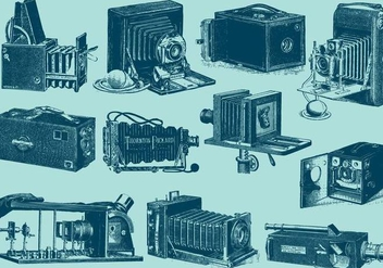 Antique Cameras - vector gratuit #383995
