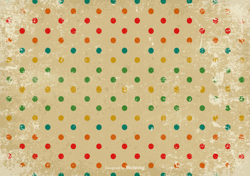 Grunge Polka Dot Vector Background - Kostenloses vector #384045
