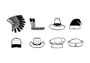 Free Hats Vector - Free vector #384075