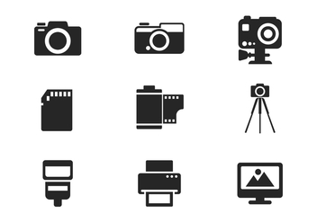 Free Camera and Photography Icon Vector - vector gratuit #384115