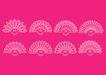 Spanish fan icons - Free vector #384145