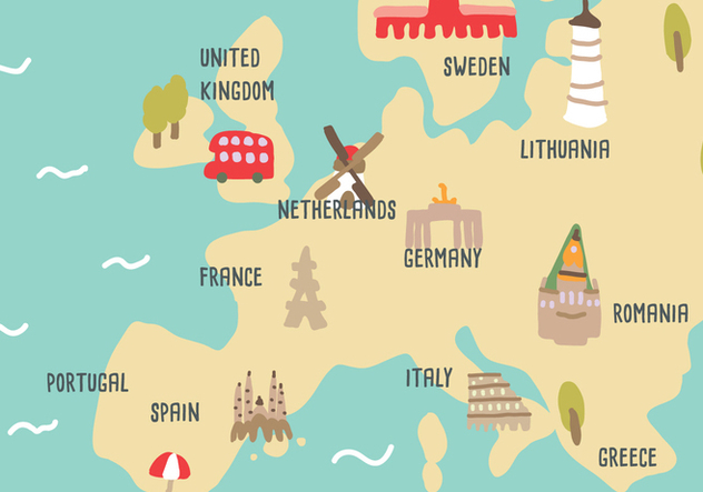 Naive Map from Holland - vector gratuit #384255