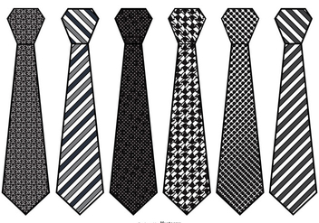 Mens Vector Tie Set - Free vector #384295
