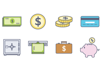 Free Money Icon - vector #384345 gratis