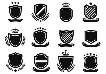 Free Shield Shapes Vector - vector gratuit #384425