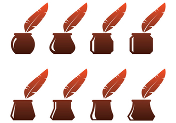 Free Ink Pot Vectors - vector gratuit #384695