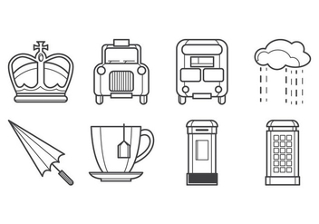 Free British Icon Vector Pack - Kostenloses vector #384735