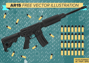 Ar15 Free Vector Illustration - vector gratuit #384815