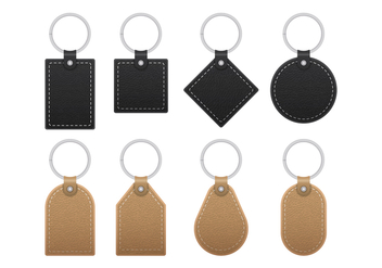 Leather Key Chains - vector #384845 gratis