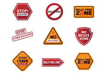 Free Bullying Sign Sticker Vectors - Free vector #384855