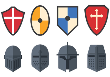 Set Of Templar Vector - vector #384865 gratis