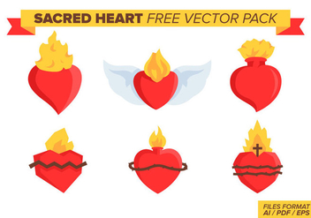 Sacred Heart Free Vector Pack - бесплатный vector #384885