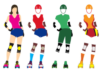 Illustration Template of Roller Derby Girl - vector gratuit #384925