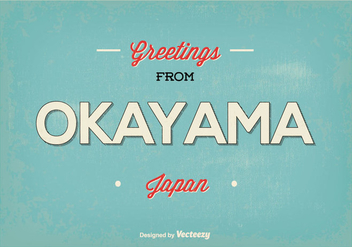 Okayama Japan Greeting Illustration - Kostenloses vector #384955