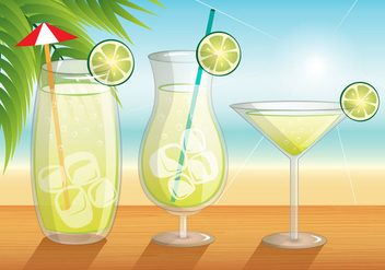 Caipirinha Beach Theme Vector - бесплатный vector #384965