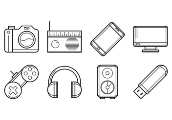 Free Electronic Devices Icon Vector - Kostenloses vector #385005