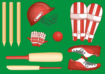 Cricket Player Stuff - Free vector #385015