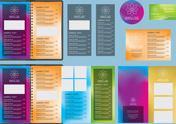Gradients Menu Templates - vector gratuit #385245