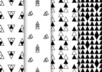 Free Black and White Geometric Pattern Vector - vector gratuit #385335