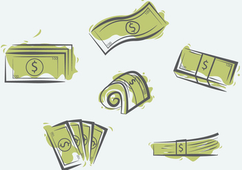 100 Dollars Illustration Vector - Free vector #385345