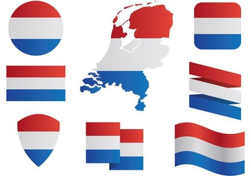 Free Netherlands Map Icons Vector - vector gratuit #385395