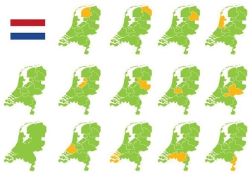Free Netherlands Map - vector #385405 gratis