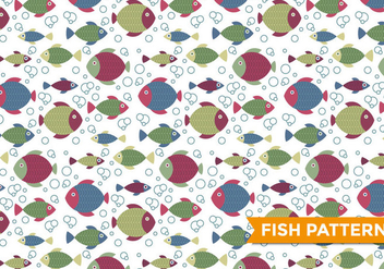 Fish Pattern Vector - бесплатный vector #385455