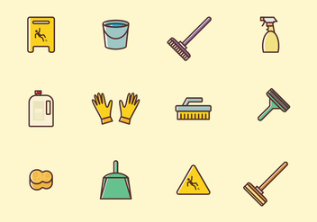 Cleaning Icons Set - vector #385465 gratis