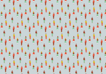 Men Women Pattern Illustration - бесплатный vector #385485