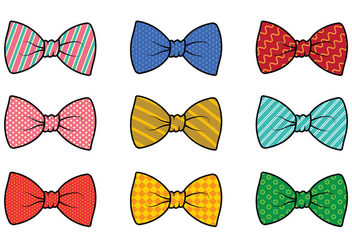Set Of Cravat Vector - vector #385515 gratis