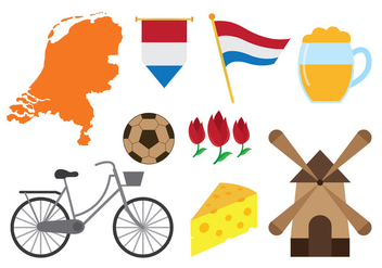 Netherlands Icons Vector - бесплатный vector #385545