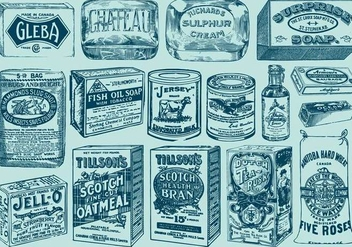 Vintage Packages - vector gratuit #385575