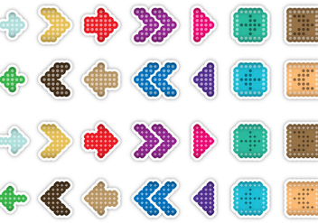 Dotted Arrows - vector gratuit #385625