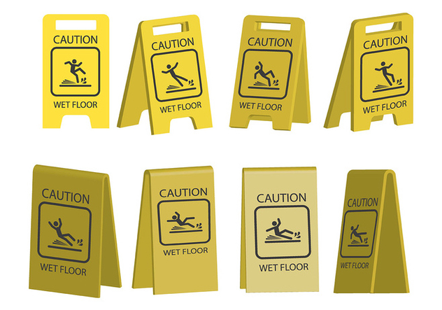 Wet Floor Icons - vector gratuit #385655