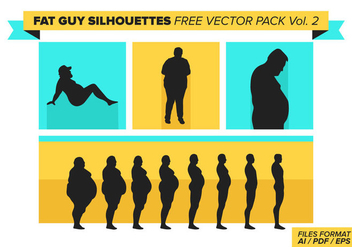 Fat Guy Silhouettes Free Vector Pack Vol. 2 - vector gratuit #385695