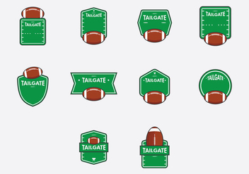 Tailgate Template Icon Set - vector gratuit #385715