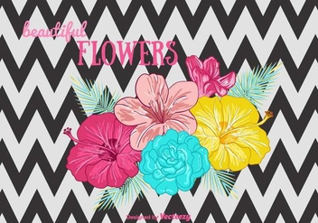 Beautiful Flowers Background - vector gratuit #385755