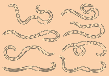 Earthworm icons - Free vector #385795