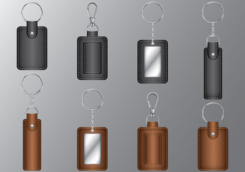 Leather Rectangle Keychains - vector gratuit #385855
