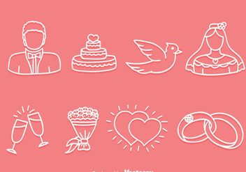 Hand Drawn Wedding Icons Vector - Free vector #386005