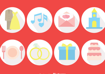 Wedding Planner Circle Icons Vector - Kostenloses vector #386015