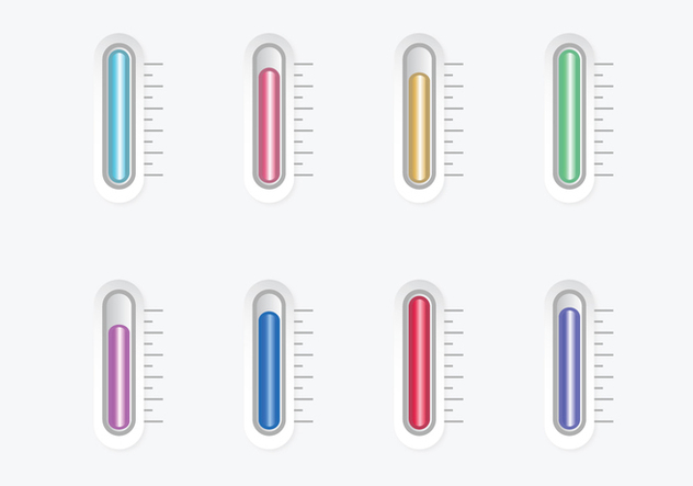 3D Thermometer Vectors - Kostenloses vector #386045