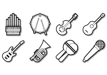Free Music Instrument Icon Vector - Kostenloses vector #386065