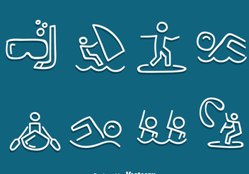 Hand Drawn Water Sport Vector Set - vector gratuit #386105