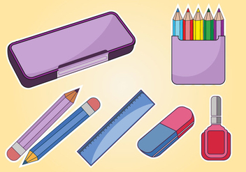 Student Pencil Case Vector - бесплатный vector #386175