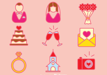 Wedding Planner Element Icons Vector - Kostenloses vector #386215