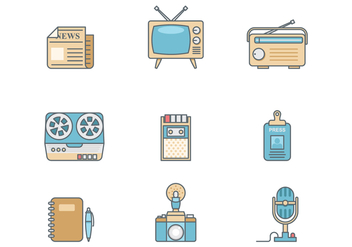 Free Retro Journalist Vector - Free vector #386355