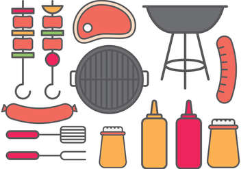 Barbecue Icon - vector gratuit #386375