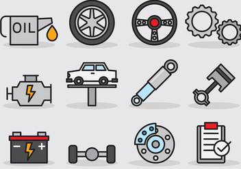 Cute Car Service Icon - vector gratuit #386385